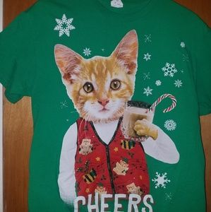 Kitten Christmas Sweater.Funny Kitten Shirt Ugly Christmas Sweater